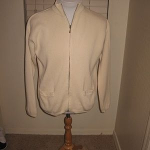 Real Clothes /Saks 5th Ave Cardigan - Cream Large